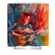 David Bowie In Space Oddity Shower Curtain