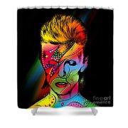 David Bowie Shower Curtain by Mark Ashkenazi