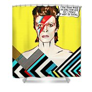 David Bowie Pop Art Shower Curtain
