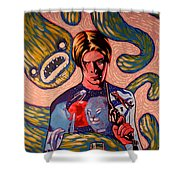 David Bowie Song Reference Painting Shower Curtain
