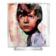 David Bowie Teenager Aquarelle  Shower Curtain