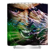 David Bowie The Legend Shower Curtain