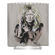 David Coverdale Shower Curtain