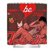 David Hasselhoff Valentine' Day Shower Curtain