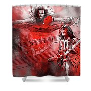 David Lee Roth And Eddie Van Halen Jump Shower Curtain
