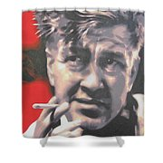 David Lynch Shower Curtain by Luis Ludzska