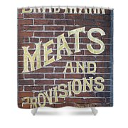 David Mann - Meats And Provisions Shower Curtain