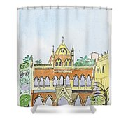David Sasson Library Mumbai Shower Curtain