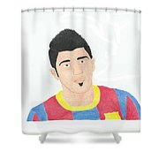 David Villa Shower Curtain