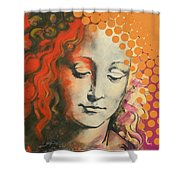 Davinci's Head Shower Curtain