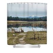 Davis Creek And Maiden Peak Shower Curtain