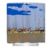 Davis Island Yachts Shower Curtain