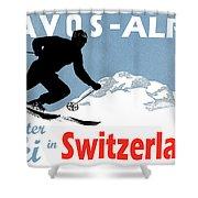Davos, Alps, Mountains, Switzerland, Winter, Ski, Sport Shower Curtain