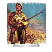 Davy Crockett  Hero Of The Alamo Shower Curtain
