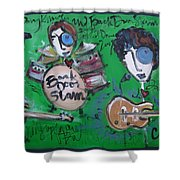 Davy Knowles And Back Door Slam Shower Curtain by Laurie Maves ART