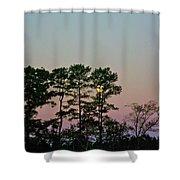 Dawn And Moon Setting - Virginia Shower Curtain