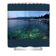 Dawn Arrives At Lake Tahoe  Shower Curtain