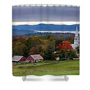 dawn arrives at sleepy Peacham Vermont Shower Curtain