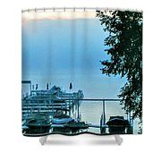 Dawn At Bay Colony Shower Curtain