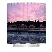 Dawn At Boathouse Row Shower Curtain by Bill Cannon