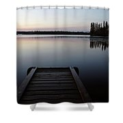 Dawn At Lynx Lake In Northern Saskatchewan Shower Curtain