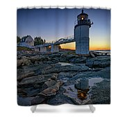 Dawn At Marshall Point Shower Curtain