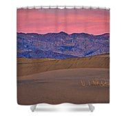 Dawn At Mesquite Flat #3 - Death Valley Shower Curtain