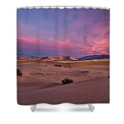 Dawn At Mesquite Flats #2 - Death Valley Shower Curtain