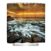Dawn At Porthcawl Shower Curtain