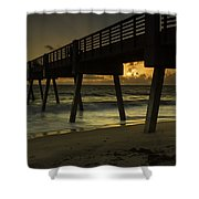 Dawn At The Pier Shower Curtain