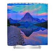 Dawn At Two Medicine Lake Shower Curtain