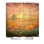 Dawn Blessings On The Farm Shower Curtain