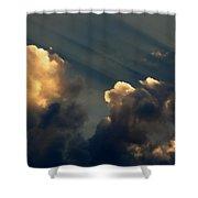Dawn Bursting In Air Shower Curtain