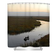Dawn Everglades Florida Shower Curtain