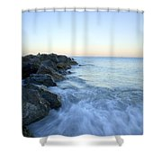 Dawn Light In Italy Shower Curtain