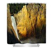 Dawn, Lower Falls Of The Yellowstone Shower Curtain