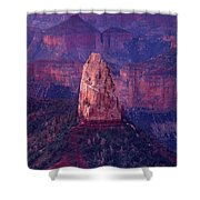 Dawn Mount Hayden Point Imperial North Rim Grand Canyon National Park Arizona Shower Curtain by Dave Welling