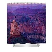 Dawn Mount Hayden Sunrise North Rim Grand Canyon Arizona Shower Curtain by Dave Welling