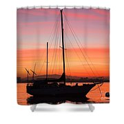 Dawn Of The Sailboat Shower Curtain