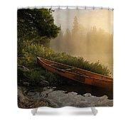 Dawn On Boot Lake Shower Curtain