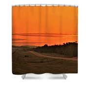 Dawn On Highway 61 Shower Curtain