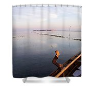 Dawn On Lagoon Shower Curtain