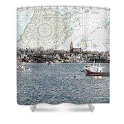 Dawn On Marblehead Harbor Shower Curtain