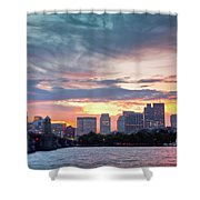 Dawn On The Charles River Shower Curtain by Susan Cole Kelly