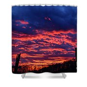 Dawn On The Farm Shower Curtain