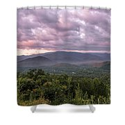 Dawn On The Foothills Parkway Shower Curtain by Jemmy Archer