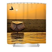 Dawn On The Ganga Shower Curtain