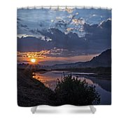 Dawn On The Hocking Shower Curtain