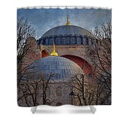 Dawn Over Hagia Sophia Shower Curtain by Joan Carroll