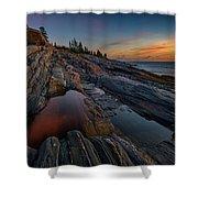 Dawn Over Pemaquid Point Shower Curtain